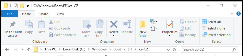Windows ruta completa