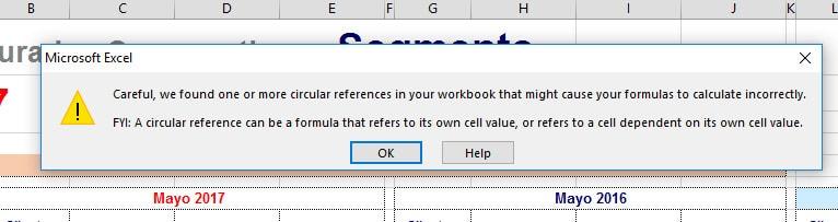 Excel - Como encontrar una referencia circular 1