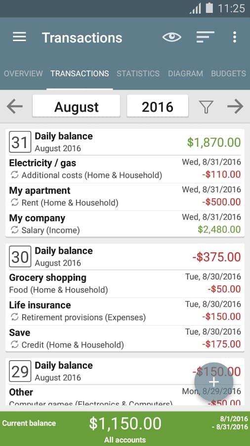 My Budget Book - Movimientos