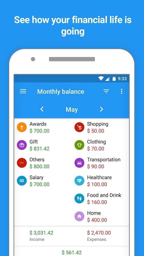 Mobills: Budget Planner - Balance mensual