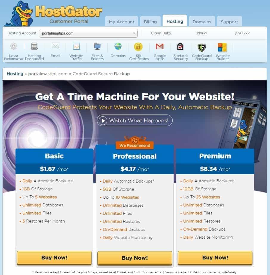 Reseña Hostgator Cloud Hosting y Muestra del cPanel 17