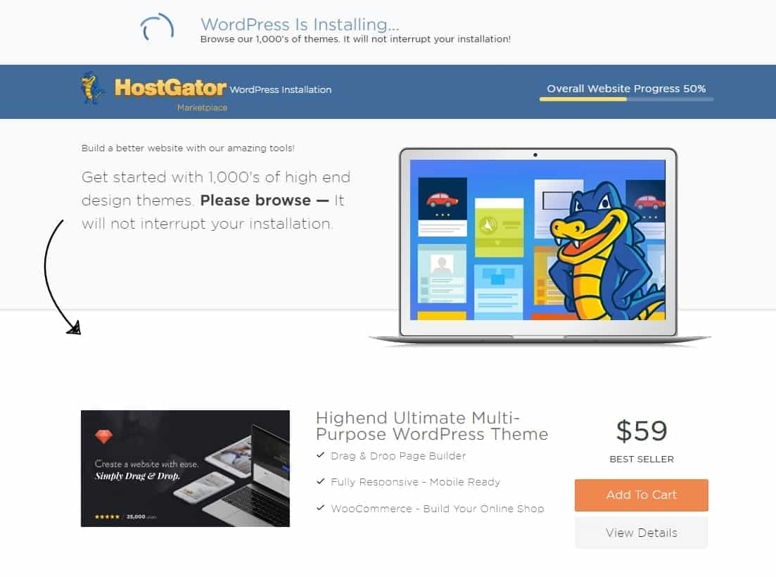 Instalar Wordpress en Hostgator Cloud Hosting paso a paso 4