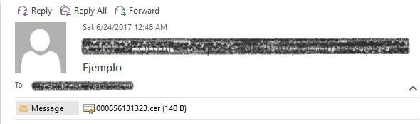 Outlook ejemplo archivo adjunto desbloqueado
