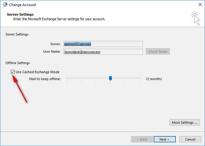 4 Deshabilitar Modo De Intercambio Cache En Outlook Deshabilitar Cache