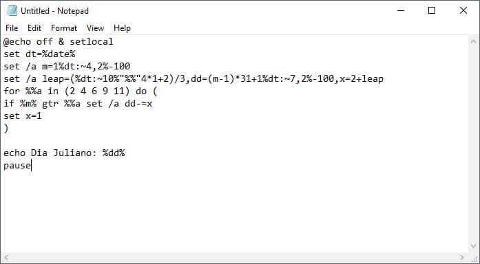 Copiar Script Batch En Notepad