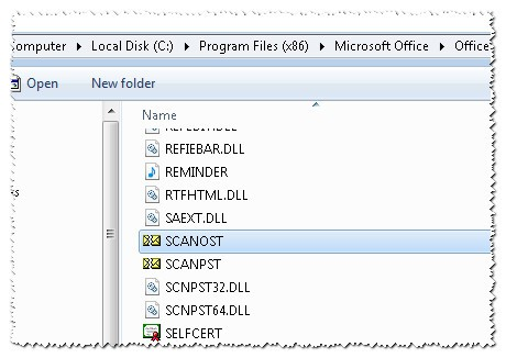 Localizar La Aplicacion SCANPST Y SCANOST Para Reparar Archivos Personales De Outlook