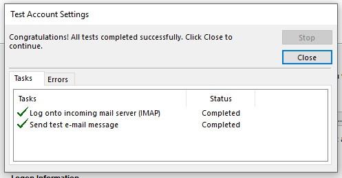 10 Configurar Correo Gmail En Outlook Prueba Satisfactoria