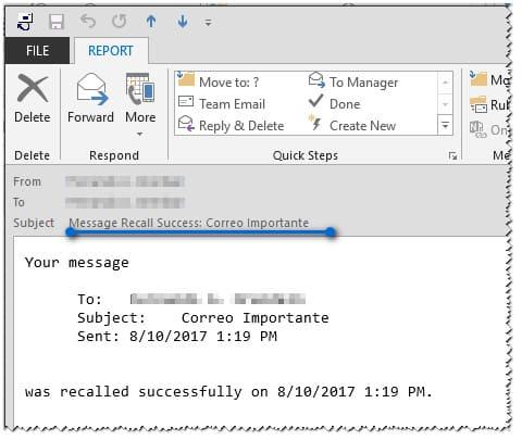 4 Recuperar O Eliminar Un Correo Electrónico Enviado En Outlook Accion Correo De Confirmacion