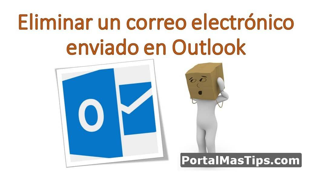 Logo Eliminar Correo Enviado En Outlook