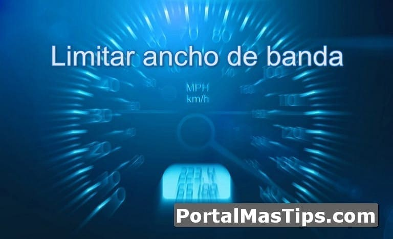Limitar ancho de banda de programa especifico en Windows 3