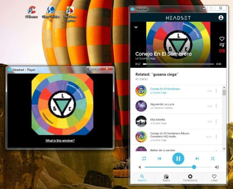 Reseña de Headser reproductor gratuito de youtube sin publicidad - Vista completa