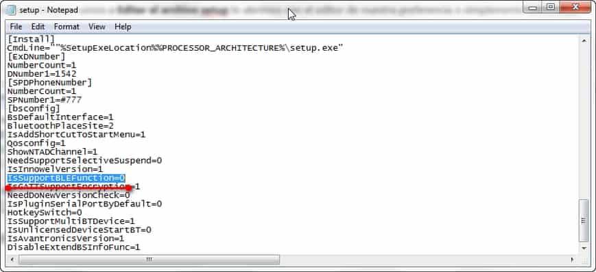 Buscar IsSupportBLEFunction para solucionar problema con arranque lento de windows al instalar BlueSoleil