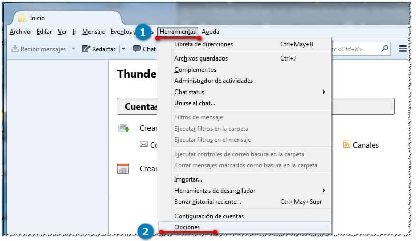 Cambiar navegador predeterminado en thunderbird