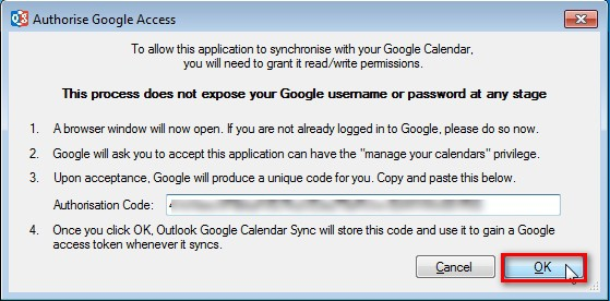 Sincronizar calendario de Google en Outlook 2