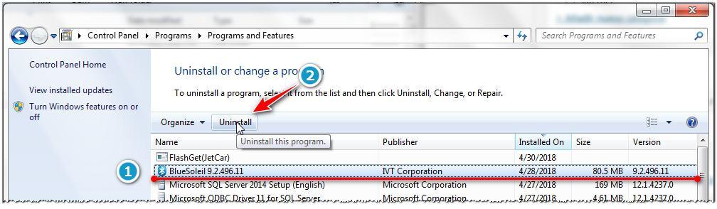 Windows inicia lento después de instalar BlueSoleil - Bluetooth USB 1