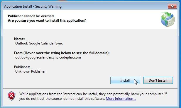 Instalar OutlookGoogleCalendarSync
