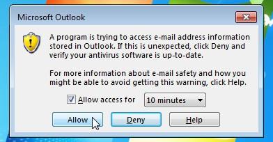 Permitir el acceso a OutlookGoogleCalendarSync