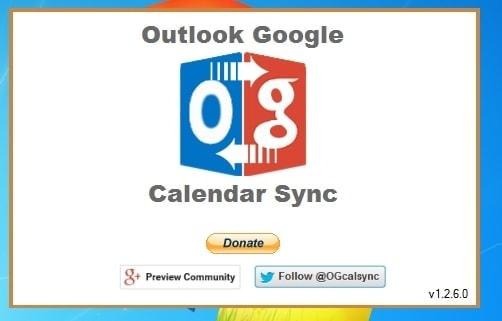 Ventana de inicio de instalacion de OutlookGoogleCalendarSync