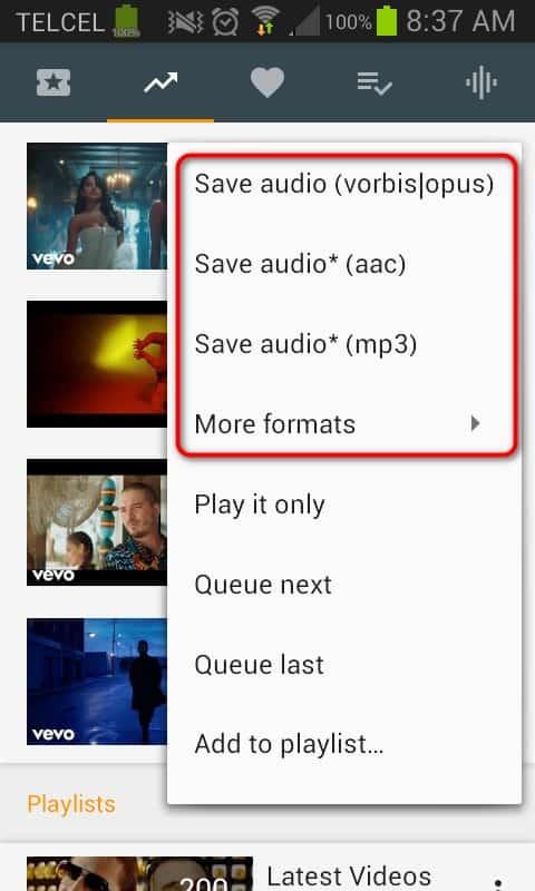 YMusic Pupulares descargar musica de youtube en mp3