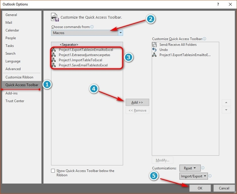 Agregar acceso rapido para ejecutar script - Acceso rapido