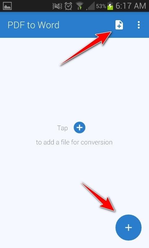 PDF to Word Converter - Convertir primer archivo