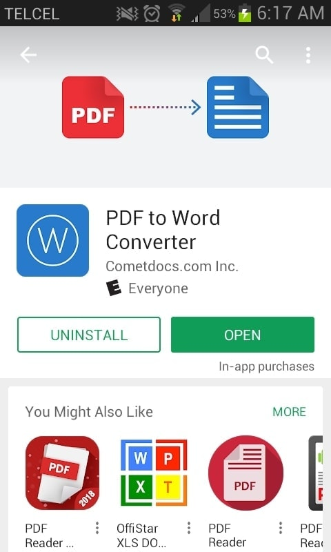 Store Instalar PDF to Word Converter