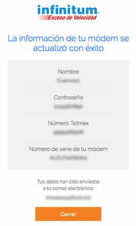 Cambia Nombre y Clave de Modem Infinitum en linea desde portal Telmex 3