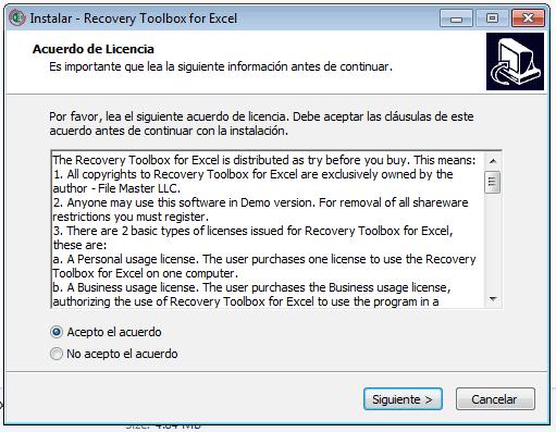 Herramienta de restauración de Microsoft Excel 2