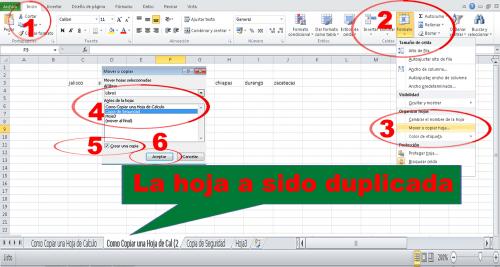 Como copiar una hoja de cálculo de excel a otra Forma 1