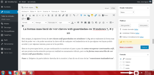 Como ver claves wifi guardadas en Windows 7, 8 y 10 Paso 1