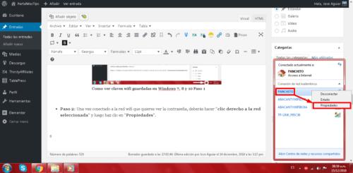 Como ver claves wifi guardadas en Windows 7, 8 y 10 Paso 2