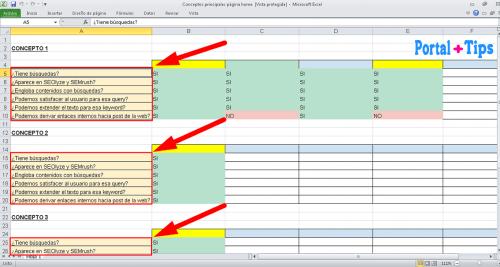 Fijar la primera columna en Excel