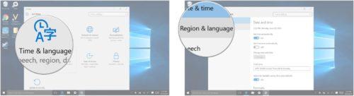 Hora e Idioma Region e Idioma
