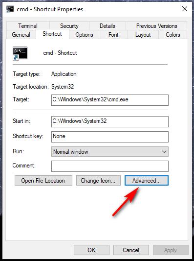 abrir cmd como administrador - Crear acceso directo 4