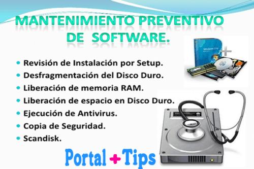 mantenimiento preventivo de sotfware
