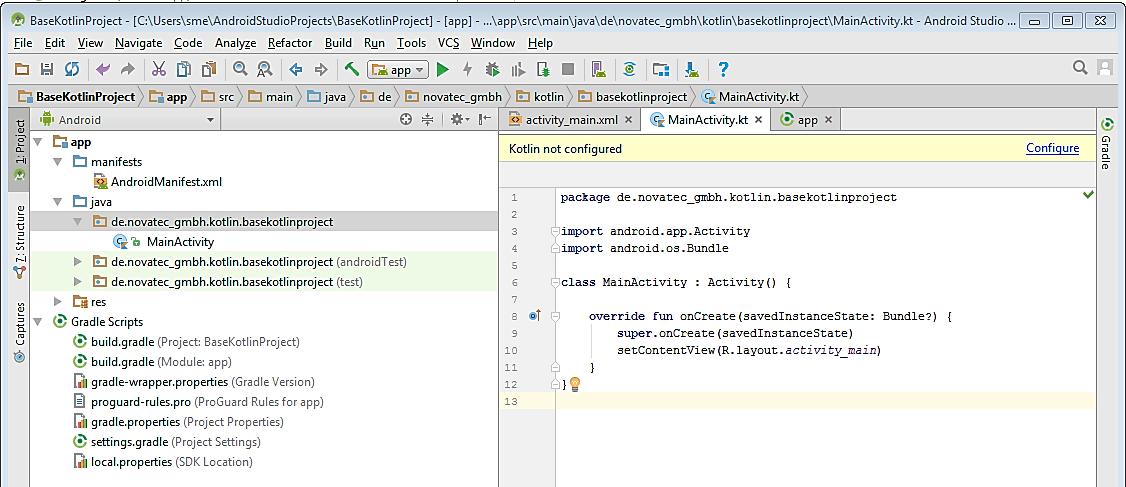 Cómo configurar un proyecto de Kotlin en Android Studio 6
