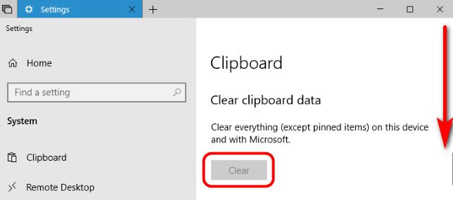 Como limpiar el portapapeles en Windows 10