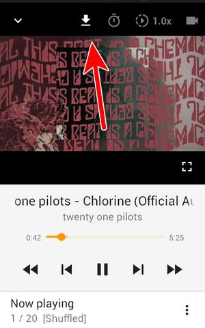 Seleccionar boton para descargar Música de Youtube en Android gratis