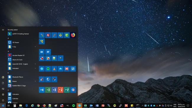 Muestra de vista de Windows 10