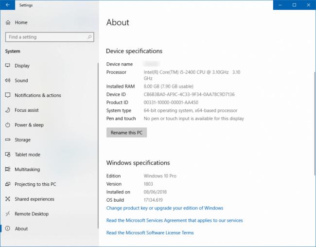 Obtener version de Windows desde Acerca De