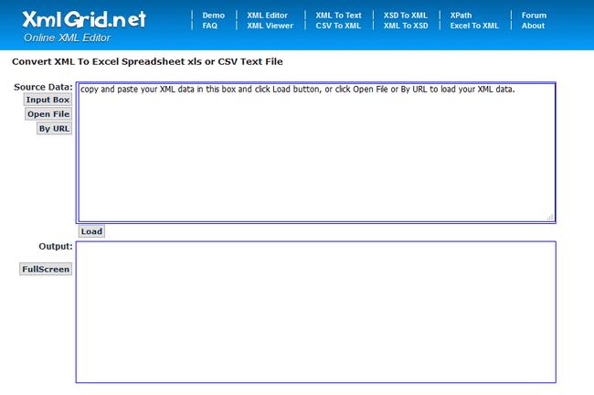 XMLGRID - Convertidor de XML a Excel Online