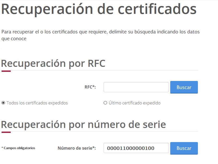 Busqueda de certificados digitales