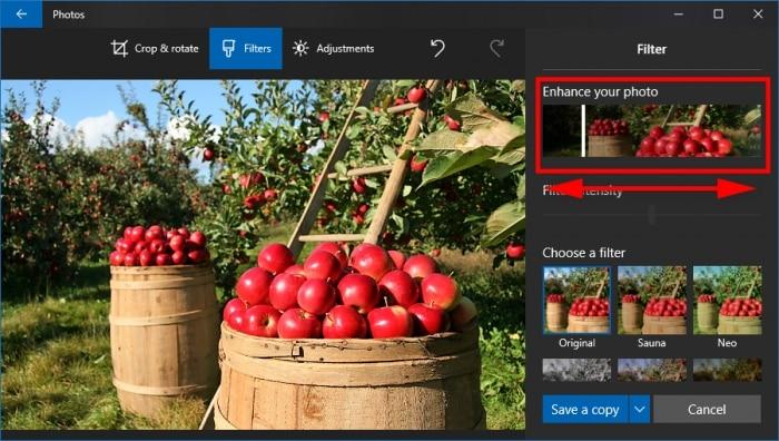 Mejora tu fotografía en Windows 10