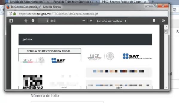 PDF constancia de registro en el rfc - descargar mi RFC