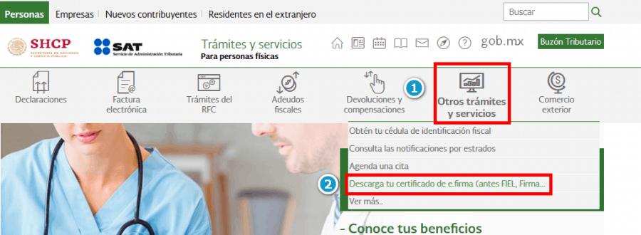 SAT - Descarga tu certificado de efirma (FIEL)