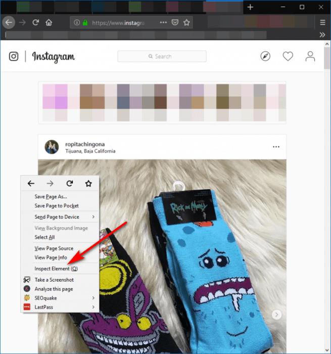 Utilizar version movil de Instagram en Firefox para subir fotos desde PC