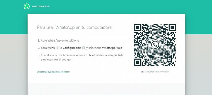 Como iniciar sesion Whatsapp con codigo QR