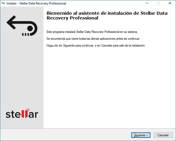 Instalar Stellar Data Recovery