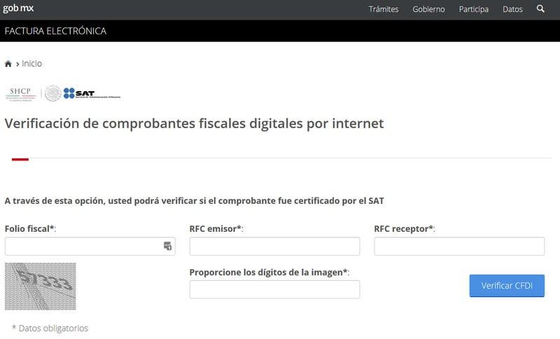 Portal de validacion de facturas CFDI SAT Oficial