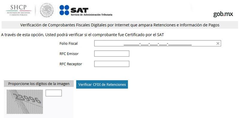 Verificación de comprobantes fiscales digitales por Internet oficial SAT